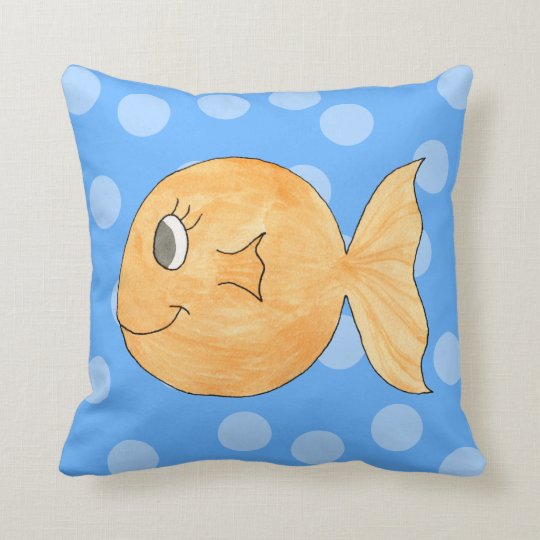 Goldfish. Throw Pillow