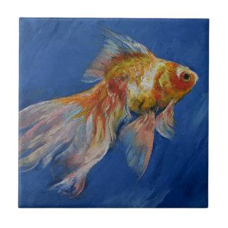 Goldfish Small Square Tile