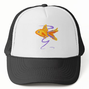 Beach Themed Goldfish Trucker Hat