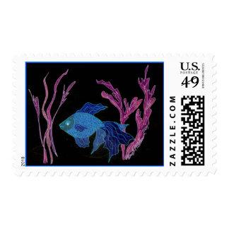Goldfish turned Beta Postage Stamps
