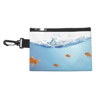 Goldfish under water aquarium accessories bags