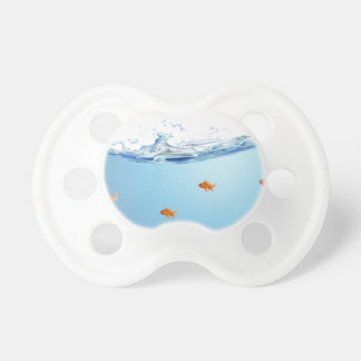 Goldfish under water aquarium pacifier