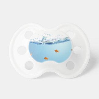 Goldfish under water aquarium pacifier
