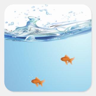 Goldfish under water aquarium sticker