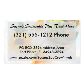 Goldfish Wedding Centerpiece Flowers, Faded ver. Double-Sided Standard Business Cards (Pack Of 100)