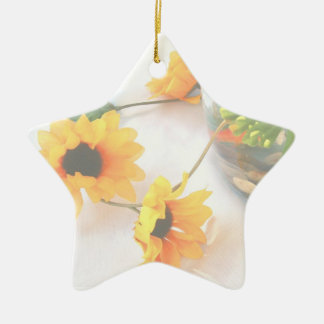 Goldfish Wedding Centerpiece Flowers, Faded ver. Ceramic Ornament
