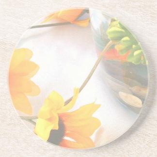 Goldfish Wedding Centerpiece Flowers, Faded ver. Beverage Coasters