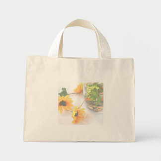 Goldfish Wedding Centerpiece Flowers, Faded ver. Mini Tote Bag
