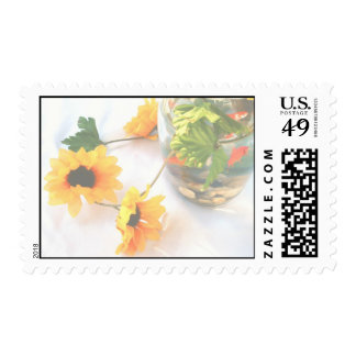 Goldfish Wedding Centerpiece Flowers, Faded ver. Postage Stamps