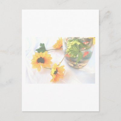 Goldfish Wedding Centerpiece Flowers Faded ver Post Cards by SusansZooCrew