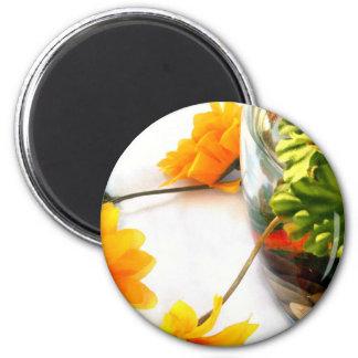 Goldfish wedding centerpiece sunflower photograph 2 inch round magnet