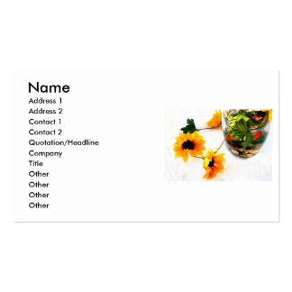 Goldfish wedding centerpiece sunflower photograph Double-Sided standard business cards (Pack of 100)