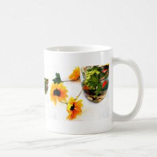 Goldfish wedding centerpiece sunflower photograph classic white coffee mug