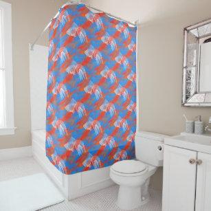 Goldfish White Orange And Blue Shower Curtain