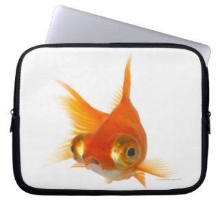 Goldfish with Big eyes Computer Sleeve
