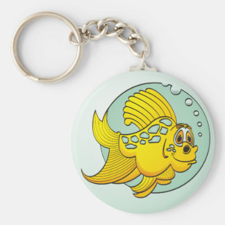 Goldfish with Blue Spots Keychains