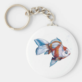 Goldfish with Bubbles Keychain
