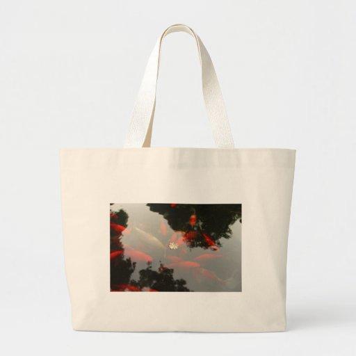 Goldfish y flor bolsa tela grande
