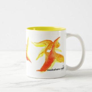 Goldfishies Two-Tone Coffee Mug