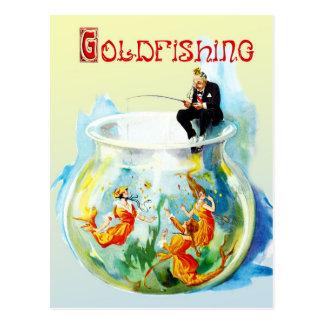 Goldfishing Tarjeta Postal