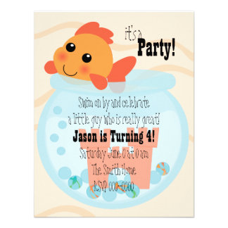 Goldfishy in a Bowl Personalized Invite
