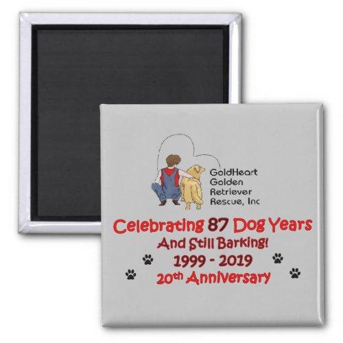 GoldHeart 20th Anniversary Magnet