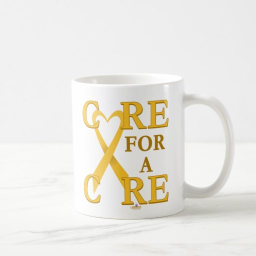 GoldHeartRibbonCareCureLight Coffee Mug