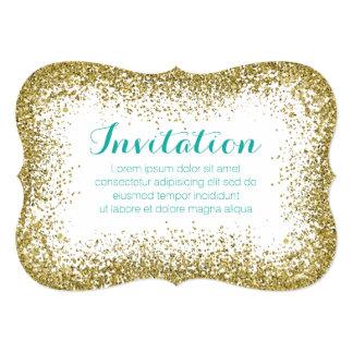 Goldie asperja la tarjeta/la invitación de la