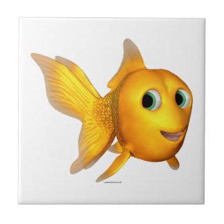Goldie el Goldfish de Toon Azulejo Cuadrado Pequeño