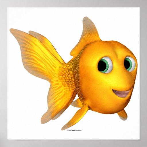Goldie el Goldfish de Toon Póster