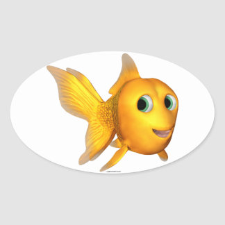 Goldie Fish Oval Stickers