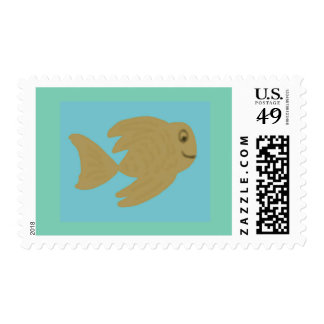 Goldie Fish Postage Stamps