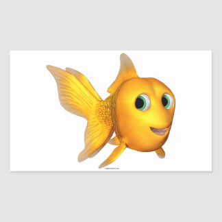 Goldie Fish Rectangle Stickers