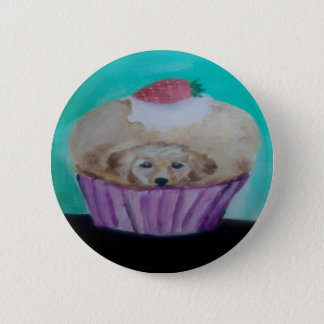 Goldie Golden Cupcake Button