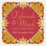 Goldie Hearts Wedding Announcement Sticker