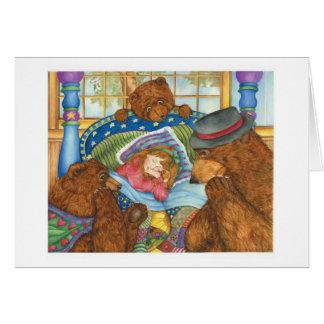 Goldie Locks & Three Bears Card