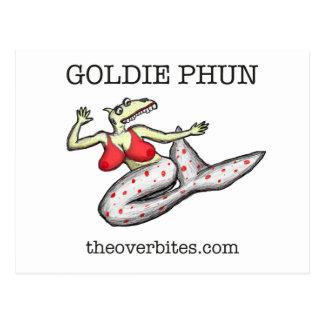 Goldie Phun Overbite Postcard