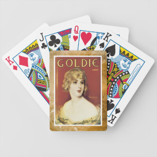 Goldie Song Gold Vintage Sheet Piano Music Bicycle Playing Cards