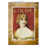 Goldie Song Gold Vintage Sheet Piano Music Card