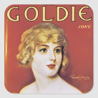 Goldie Song Square Sticker