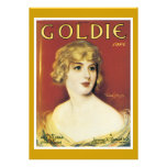 Goldie Song Vintage Song Sheet Cover Personalized Invitation