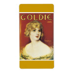 Goldie Song Vintage Song Sheet Cover Personalized Shipping Labels