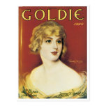 Goldie Song Vintage Song Sheet Cover Postcard