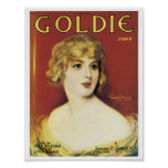 Goldie Song Vintage Song Sheet Cover Poster