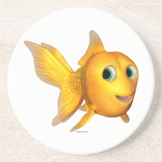 Goldie the Toon Goldfish Drink Coaster