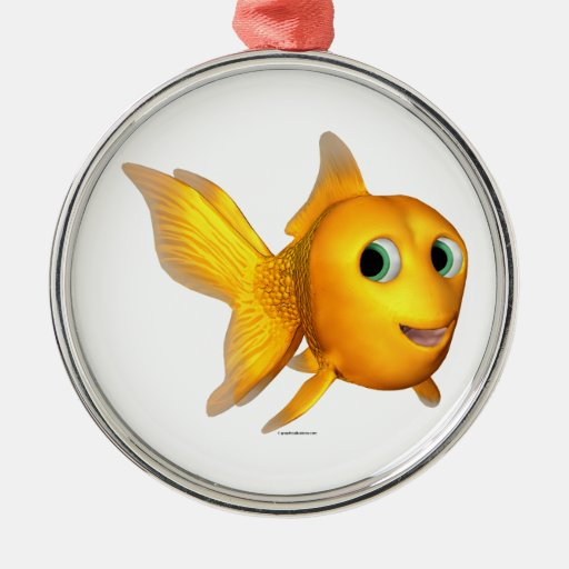 Goldie the Toon Goldfish Ornaments