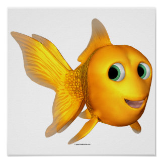 Goldie the Toon Goldfish Posters