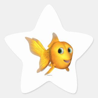 Goldie the Toon Goldfish Star Sticker