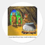 Goldilocks_and_the_3_bears Etiqueta Redonda