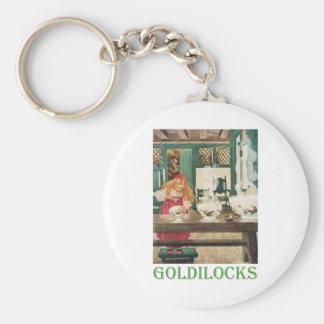 Goldilocks and the Three Bears Basic Round Button Keychain